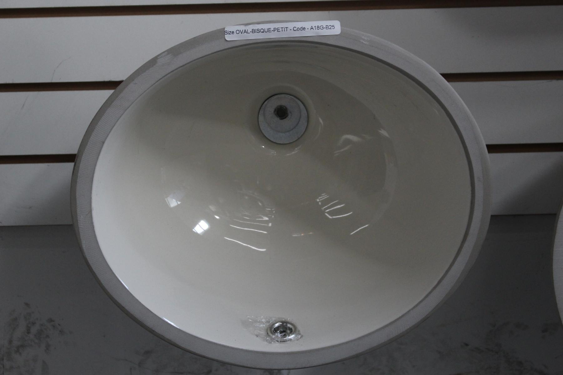 Oval Vanity Sink - Bisque Petit