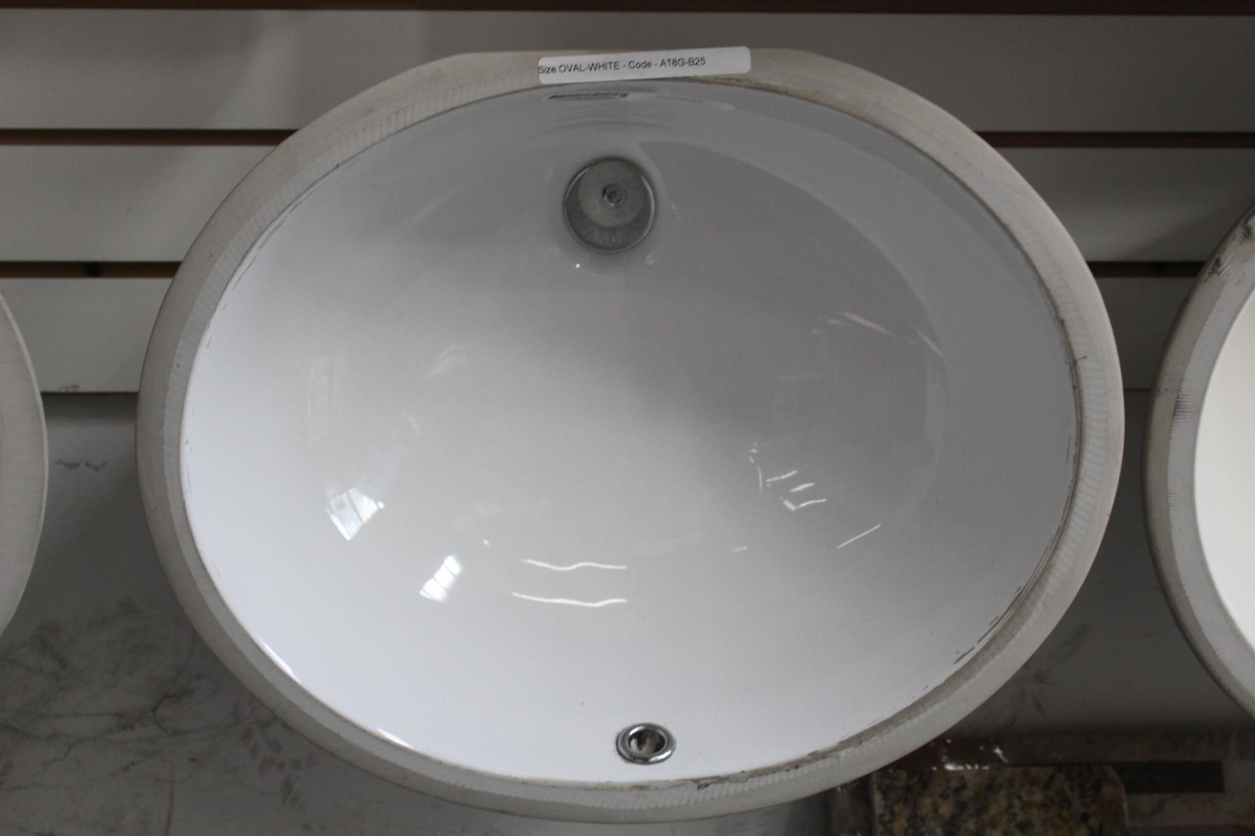 Oval Vanity Sink - White