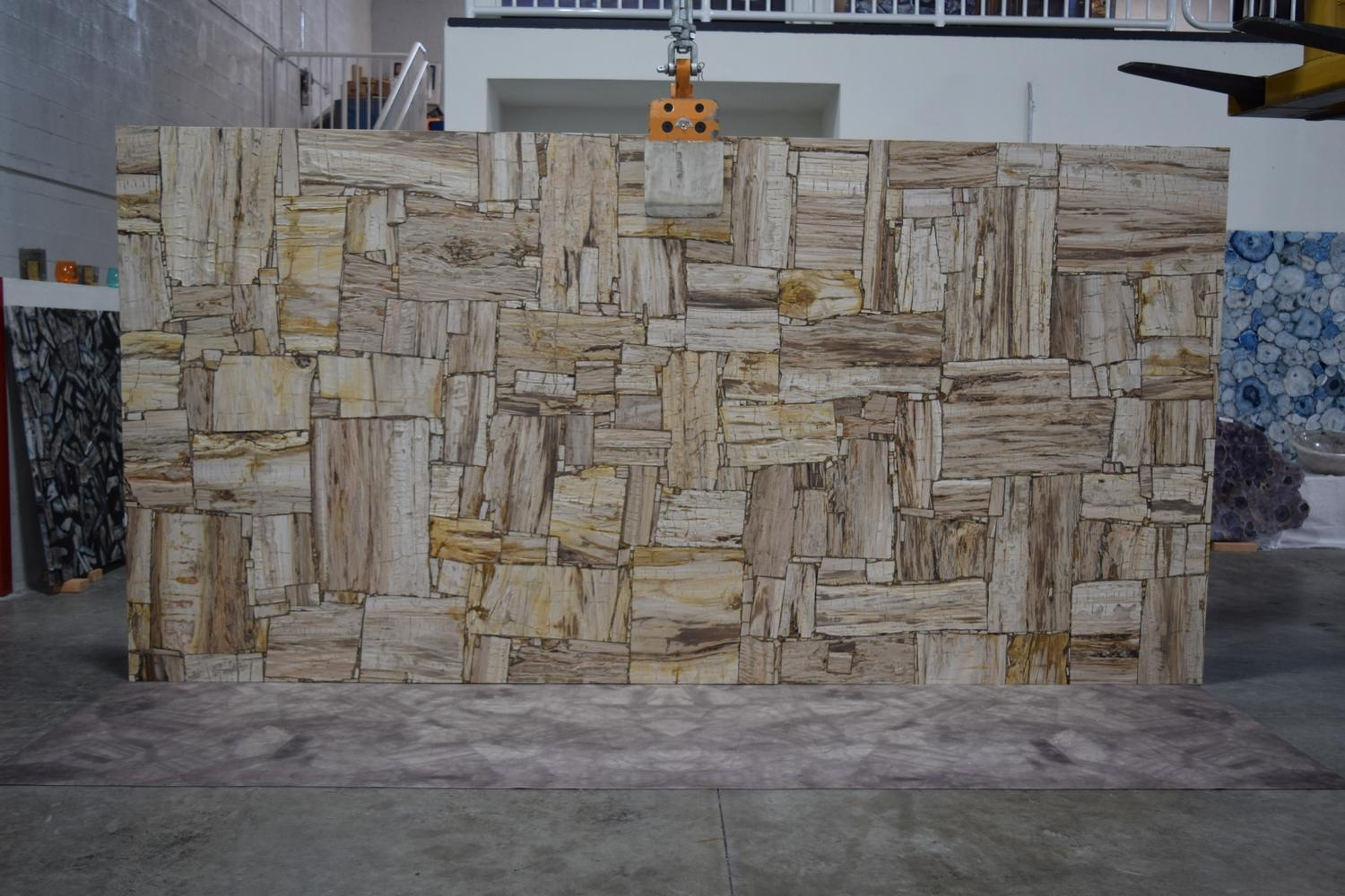 Brown Petrified Wood Brushed Retro